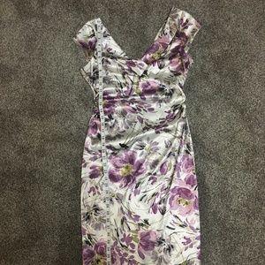 Satin stretch dress